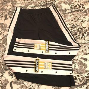Adidas Adibreak Tearaway Pants Black White Yellow